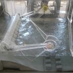 hidravlični model zapornice